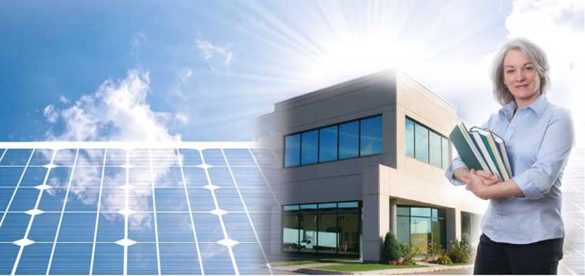 Paneles solares para escuelas